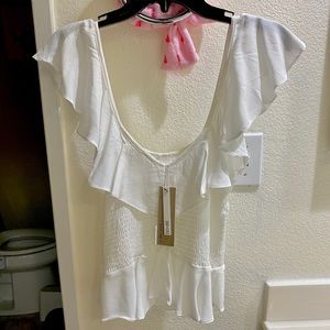 NWT Do+Be Ruffle Sleeveless Tank Blouse